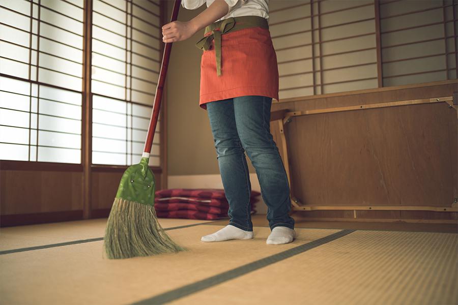 畳のお掃除